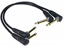 Klotz 2 Patch Cables Angle Jacks 0.3m Black