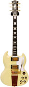 Gibson SG Custom 2 Pickup Antique Polaris White Maestro