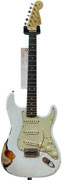 Fender Custom Shop 60's Strat Heavy Relic White over Sunburst Mint Guard 9.5 #R54509