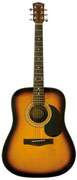 Squier SA-105 Acoustic Guitar Sunburst