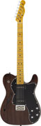 Fender Modern Player Tele Thinline Deluxe Trans Black