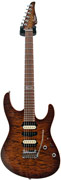 Suhr Modern Bengal Burst Quilt Top Mahogany Body and Neck Pau Ferro Board #15394