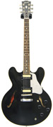 Gibson ES-335 Satin/Gloss Top Trans Black with Zebra Coil Taps
