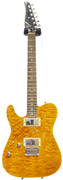 Tom Anderson Cobra Quilt Top Trans Amber Left Handed #12-09-09A (Pre-Owned)