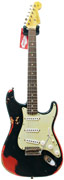 Fender Custom Shop 60's Strat Heavy Relic Black - Candy Apple Red #R69818