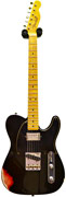 Fender Custom Shop 52 Telecaster Relic Black over Candy Apple Red
