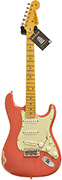 Fender Custom Shop Guitarguitar Dealer Select 59 Stratocaster Relic Faded Fiesta Red MN #R72264