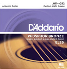 D'Addario EJ26 Custom Light Acoustic 11-52
