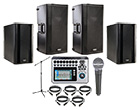 QSC K12 Speaker Bundle with twin KSUB, Touchmix 8 and Free SM58 Microphone Pack