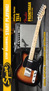 Squier Start Playing Pack Affinity Tele Brown Sunburst with Frontman 15G