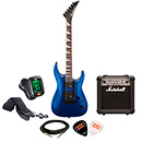 Jackson JS22 Dinky Arch Top RW Metallic Blue with Marshall MG10CF Package