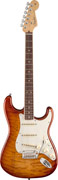 Fender Select Strat Exotic Stain Quilt RW Iced Tea Burst