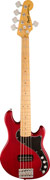 Squier Deluxe Dimension Bass V MN Crimson Red Transparent
