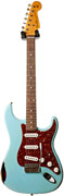 Fender Custom Shop 1960 Strat Heavy Relic Daphne Blue Over 3 Tone Sunburst #R78441