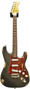 Fender Custom Shop 1962 Mid Boost Strat Heavy Relic Charcoal Frost Metallic #R81337