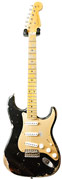 Fender Custom Shop 1956 Mid Boost Strat Heavy Relic Montego Black Anodised Pickguard #R88071