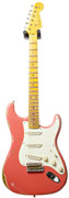 Fender Custom Shop 1956 Mid Boost Strat Heavy Relic Fiesta Red White Guard #R82101