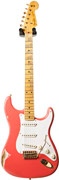 Fender Custom Shop 55 Strat Heavy Relic Fiesta Red Gold Hardware #R72220