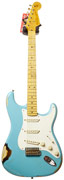 Fender Custom Shop 57 Strat Heavy Relic Taos Turquoise Over 2 Tone #R75294