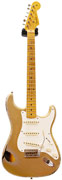 Fender Custom Shop Master Built Todd Krause 1957 Strat Relic Aged Shoreline Gold over Two Tone Burst AAA Flame MN