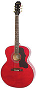 Epiphone Ltd Ed EJ-200 Artist Flame Top Wine Red