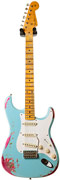 Fender Custom Shop Limited 1957 Heavy Relic Strat Daphne Blue over Pink Paisley #CZ526079