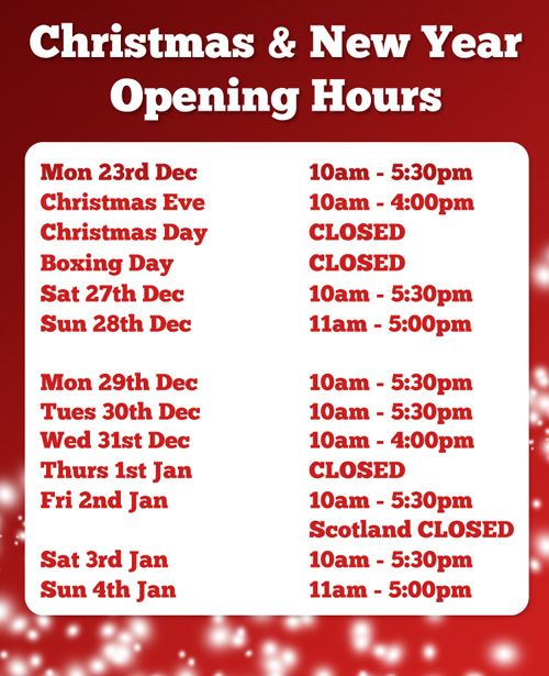 Christmas Opening Hours.Christmas And New Year Opening Times