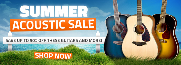 Summer Acoustic Sale - Save Up To 40%