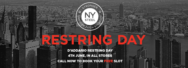 D'addario Re-String Day 4th June 2016 All of our Stores