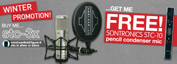 Sontronics STC-3X PACK With Free STC-10