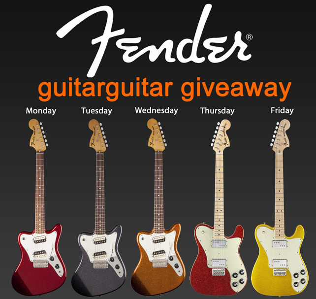 Fender Giveaway - 5 Days, 5 Guitars