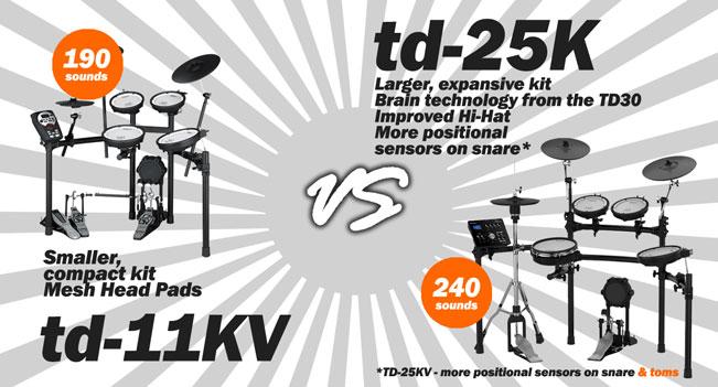 TD11  vs TD25 comparison chart