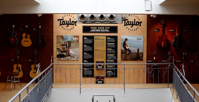 Taylor at guitarguitar Gent
