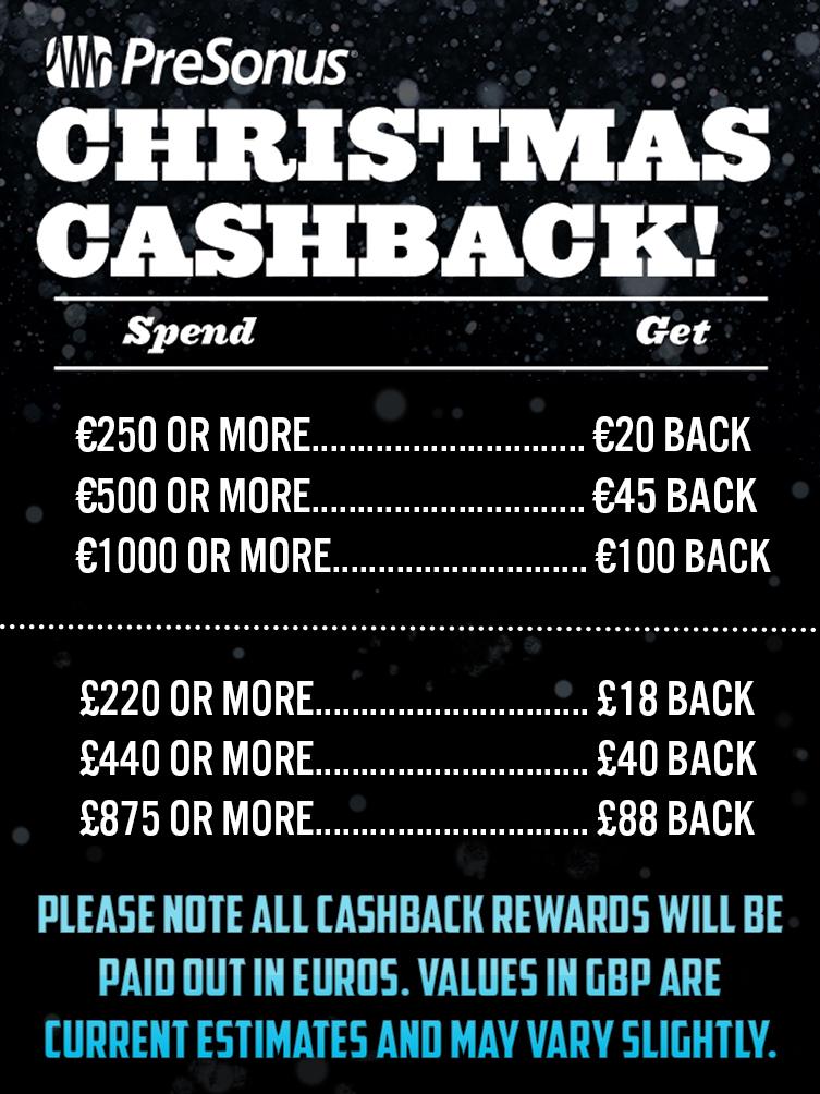 Presonus Christmas Cashback