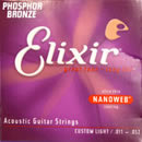 Elixir Phosphor Bronze Nanoweb Custom Light 11-52